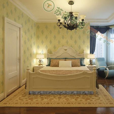 【华仑硅藻泥】欧式风情 丝网印花 高端定制 卧室全房